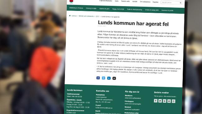 Rektorn avgår efter skandalen. Foto: Wikimedia Commons / Faksimil lund.se