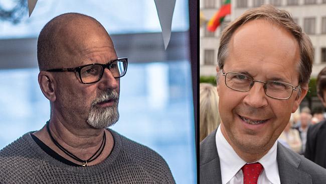 Peter Springare (t.v) och Håkan Holmberg (t.h). Foto: Nyheter Idag samt Wikimedia Commons