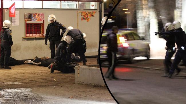 Våldsamt upplopp i Eskilstuna: Vandaliserade skola – Attackerade polis och fotograf