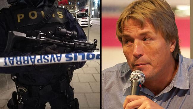 Thomas Bodström (t.h)  tycker inte vi ska göra det värre än vad det är gällande terrordådet. Foto: Arild Vågen / Wikimedia Commons