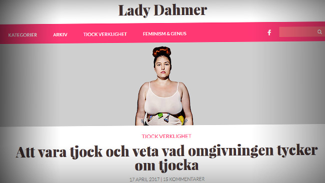 Lady Dahmer. Foto: Faksimil Ladydahmer.nu