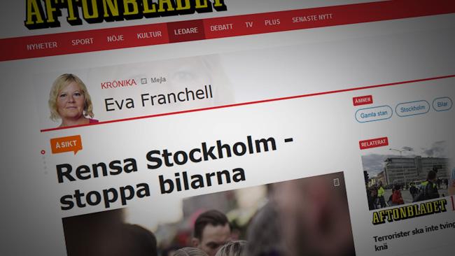 Det är bilarnas fel. Faksimil Aftonbladet