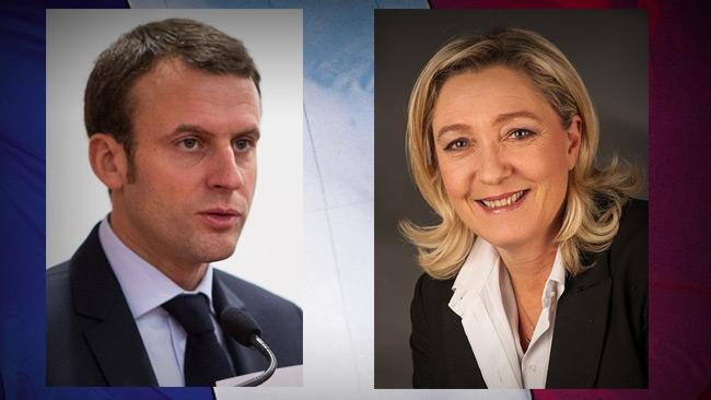 Macron och Le Pen vidare till andra omgången av franska presidentvalet