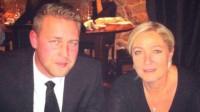 Mattias Karlsson (t.v) och Marine Le Pen (t.h). Foto: Privat