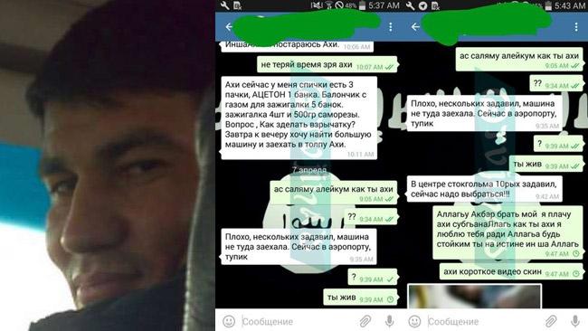 """Terroristens chattmeddelanden var offentliga timmar efter dådet: """"Allahu akbar, jag gråter"""""""