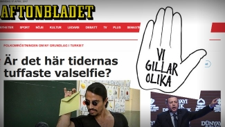 """Aftonbladet om turkiska kändiskockens fascisthälsning: """"Tidernas tuffaste valselfie"""""""