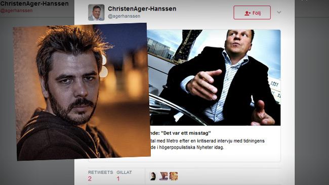 Foto: Nyheter Idag & Faksimil Twitter.