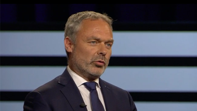 Jan Björklund (L) i SVT Agenda. Foto: svtplay.se