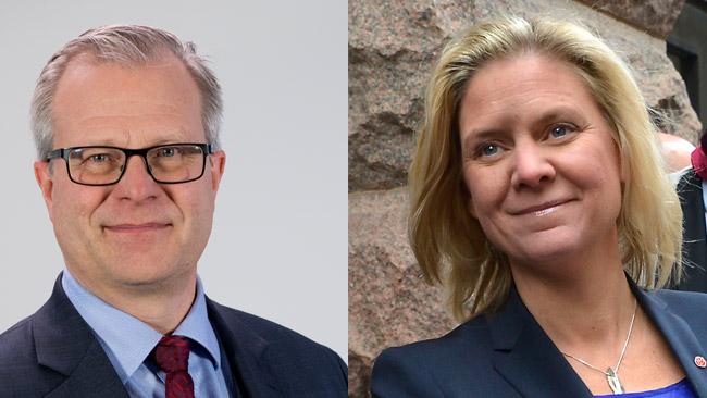 Ingvar Mattsson (t.v) och Magdalena Andersson (t.h). Foto: Riksrevisionen samt Frankie Fouganthin