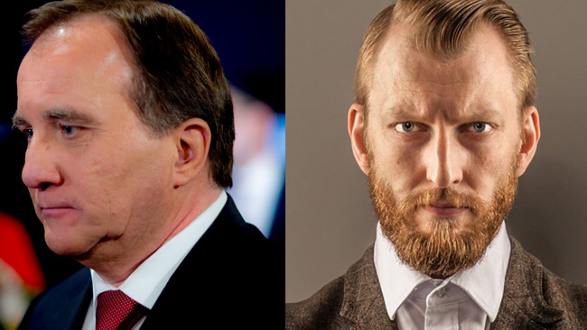 Arpi ger Löfven en rejäl känga efter uttalandet. Foto: Privat samt Facebook