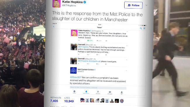 Katie Hopkins är en som riskerar repressalier efter att ha twittrat argt om terrordådet.