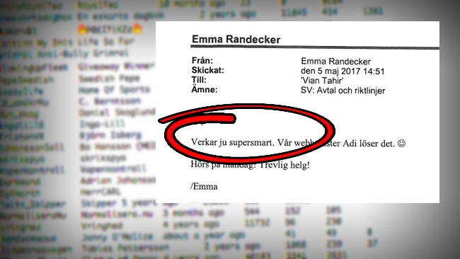 """Verkar ju supersmart"": Svenska Institutet i internt mejl om åsiktsregistret"
