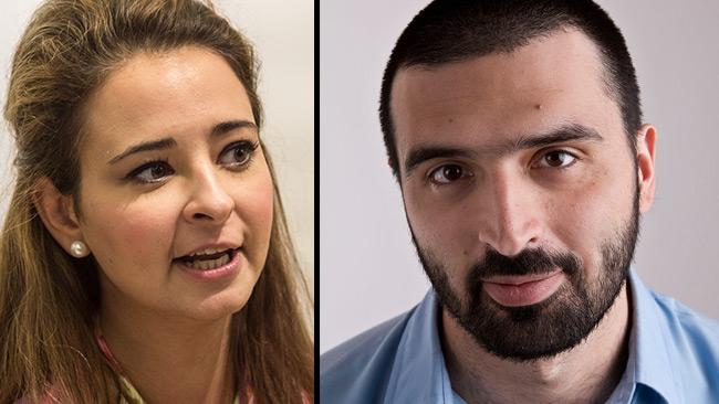 Alice Teodorescu (t.v) och Ali Esbati (t.h). Foto: Nyheter Idag samt CC Gabriel Liljevall.