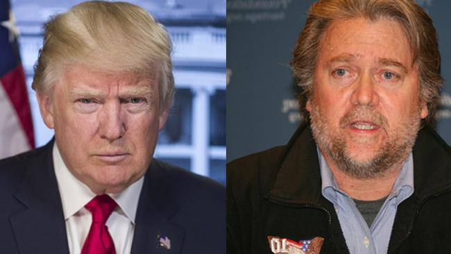Donald Trump och Steve Bannon