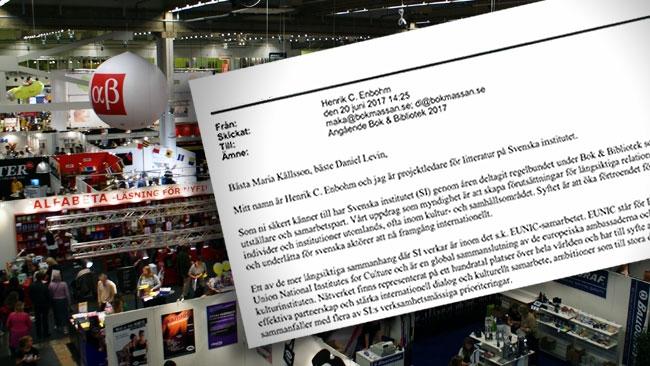 Mejlet avslöjar: Så försöker statliga myndigheten pressa bokmässan att bojkotta Nya Tider