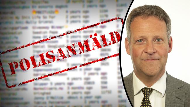 Nu är registret polisanmält av riksdagsledamoten Jan Ericson.