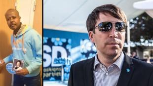 Ahmed (t.v) och Jomshof (t.h). Foto: Moderaterna samt Nyheter Idag