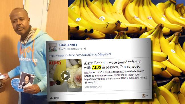 Ahmed kontaktade myndigheter om HIV-smittade bananer.