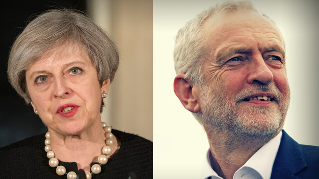 Theresa May & Jeremy Corbyn Foto: Flickr.