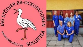 Sjukhusdirektör i Västernorrland förbjuder vårdpersonal att bära pins till stöd för BB-ockupationen