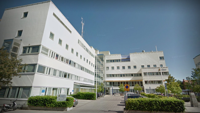 Polishuset i Örebro. Foto: Faksimil Google Maps.