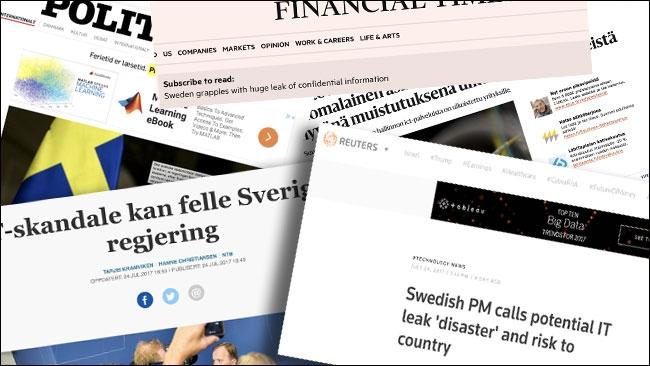 """Utländsk media: """"Den svenska regeringen riskerar att falla"""""""