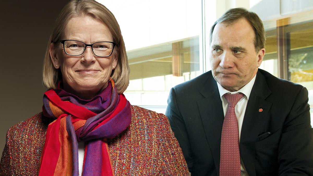 Anna Skarhed och Stefan Löfven. Foto: JK/Arbeiderpartiet
