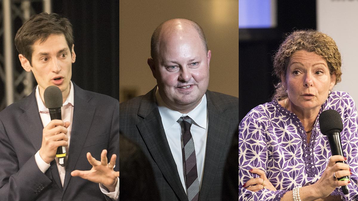 Peter Wolodarski, Thomas Matsson och Cilla Benkö. Foto: Nyheter Idag