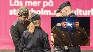 Arkivbild. Obs! Personerna på bilden har ingenting med artikeln att göra. Viktor Adolphson och Johan Säfström är yttre befäl på Södermalmspolisen. Foto: Twitter/Nyheter Idag