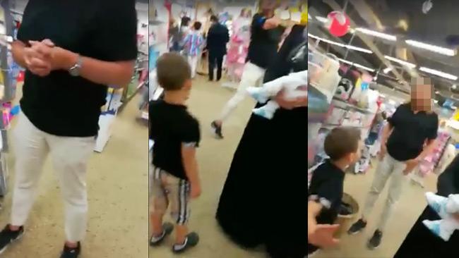 Bilder ur videon som sprids på Facebook.