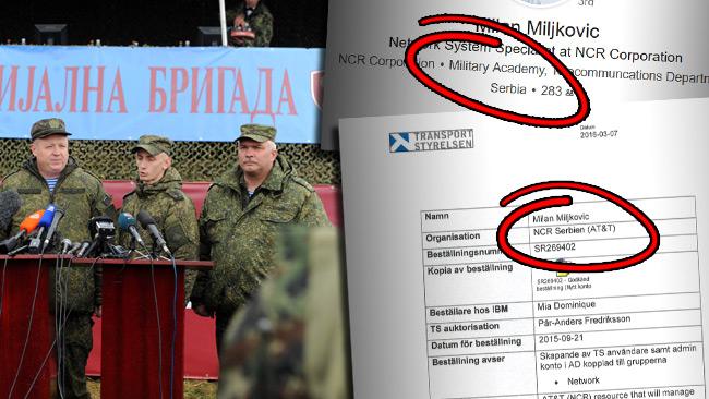 Ännu en serb som fick olaglig tillgång till IT-systemet har militär bakgrund.