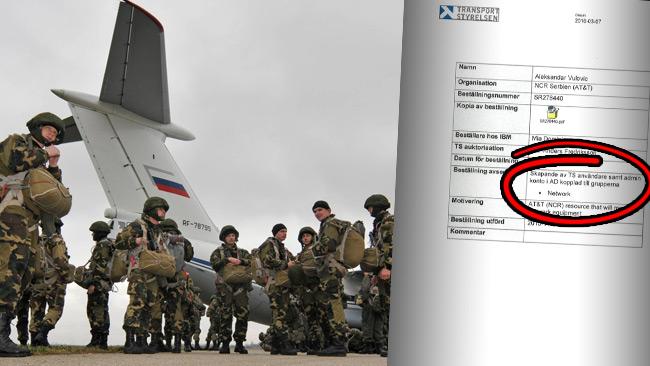 En fd militär, från en serbisk flygbas som samövar med Ryssland, fick admin-tilldelning.