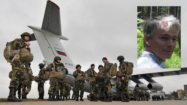 Ryska soldater på flygbasen Batajnica i Belgrad förra året. Aleksandar Vulovic (bilden) arbetade på basen i mer än tio års tid. Foto: Serbiska regeringen/Linkedin