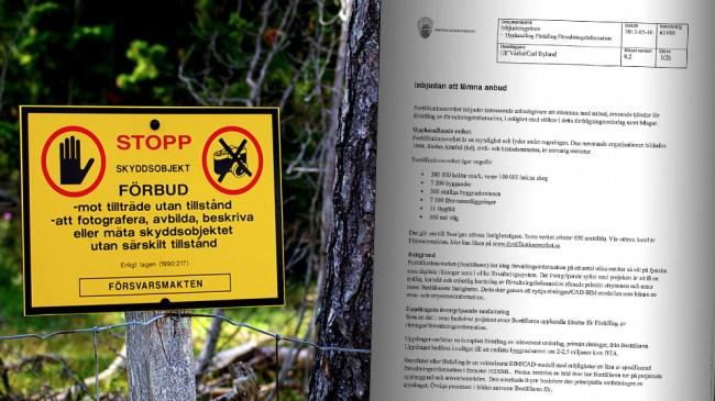 Ritningar på tusentals svenska militärbyggnader har lämnats ut till Kina – Allt pekar på skyddsobjekt