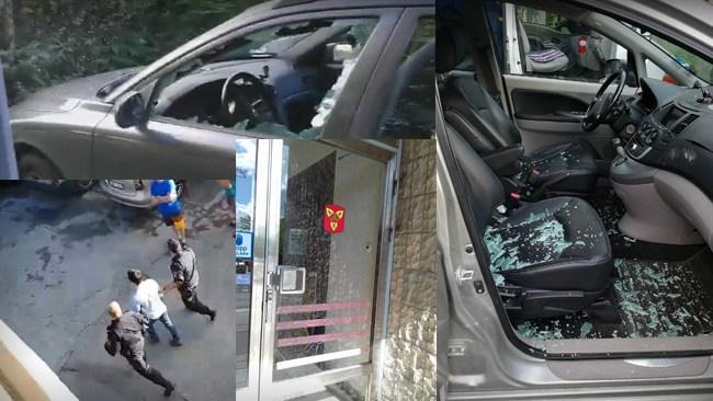 Vandaliserar bilar för att bli utvisad: Se när polisen tar honom