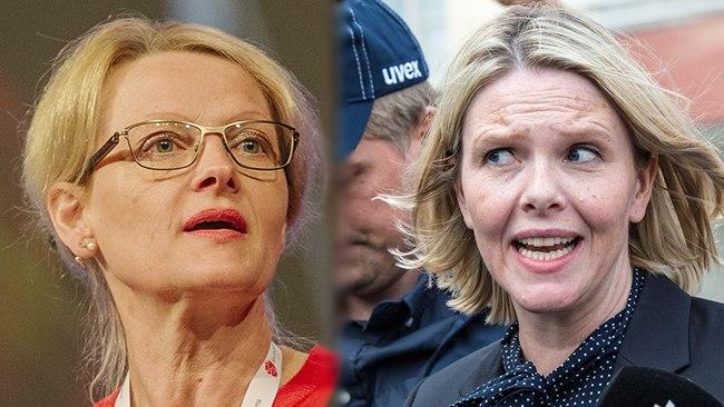Heléne Fritzon och Sylvi Listhaug. Foto: Socialdemokraterna/Nyheter Idag