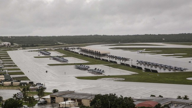 USA:s militärbas i Guam. Foto: U.S. Marine Photo