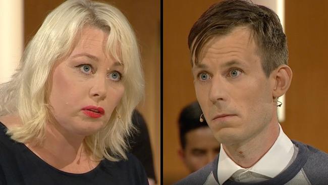Heberlein och Bengtsson rök ihop i direktsändning. Foto: svtplay.se