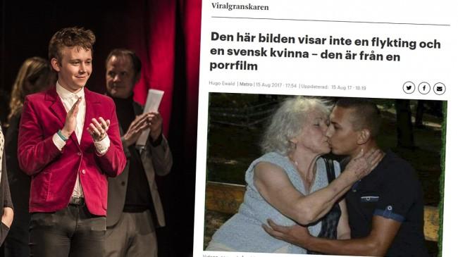 Hugo Ewald. Foto: Nyheter Idag/Skärmdump