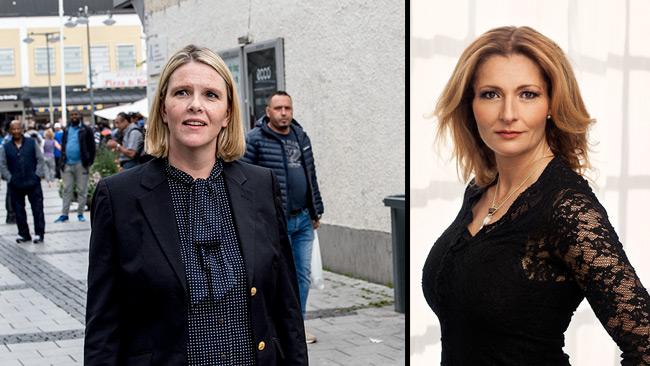 Sylvi Listhaug (t.v) och Katerina Janouch (t.h).
