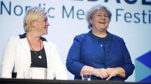 Norges borgerliga partier i ledning inför valet nästa månad