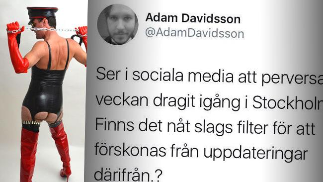 """Kallade Stockholm Pride för """"perversa veckan"""". Foto: Wikipedia samt Twitter"""