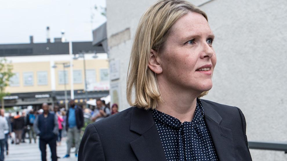 Sylvi Listhaug på besök i Rinkeby. Foto: Nyheter Idag
