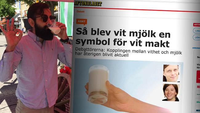 Debattartikeln i Aftonbladet blev en snackis och tidigare mötte Hanif Bali kritik när han drack mjölk.