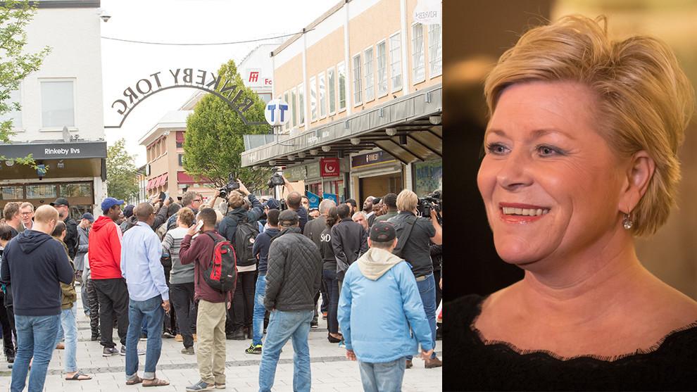 FrP:s partiledare Siv Jensen. Foto: Nyheter Idag/Tore Sætre