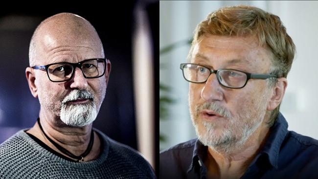 Peter Springare (t.v) och Janne Josefsson i SVT UG (t.v). Foto: Nyheter Idag samt svtplay.se