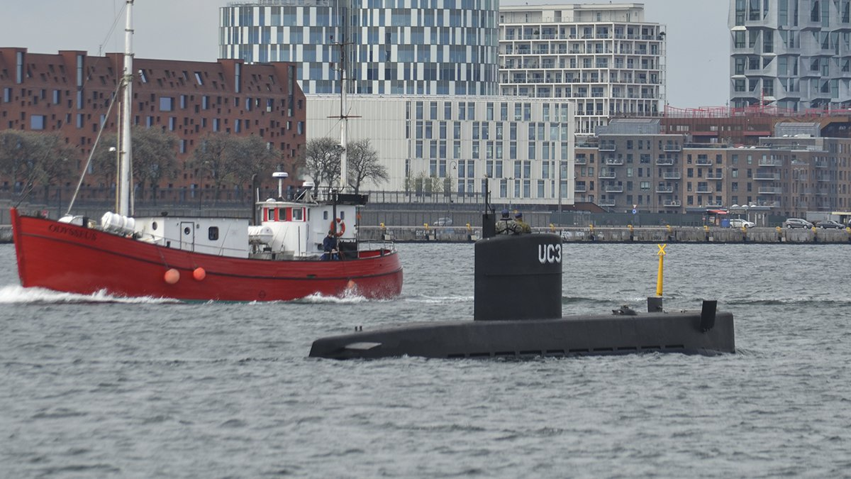 Ubåten UC3 tidigare i år. Foto: Anja Olsen