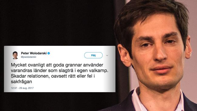 När Sverige används som slagträ är det inte roligt längre. Foto: Nyheter Idag
