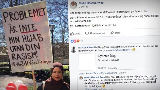 """V-politiker i Örebro: """"Går inte att uttala sig om hedersvåld utan att uttala sig islamofobiskt"""""""