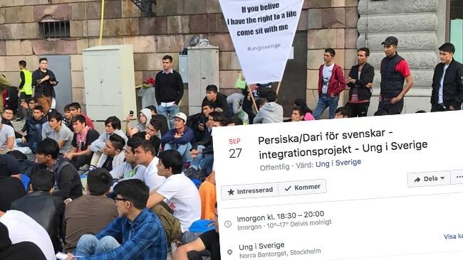 """Afghanska demonstranterna: Svenskar har ett ansvar att lära sig persiska och dari - """"Välkommen till det nya samhället"""""""